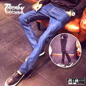 『潮段班』【ML0CK003】28-36素色牛仔褲休閒百搭素面牛仔長褲