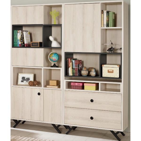 書櫃 書櫥 MK-372-23 優娜5.4尺書櫥【大眾家居舘】