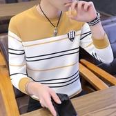 長袖T恤男 2020新款男士長袖t恤秋季流行韓版衛衣男潮流秋裝男裝秋衣上衣服 薇薇