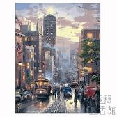 diy數字油畫風景手繪減壓畫填色油彩畫客廳 裝飾畫【極簡生活】