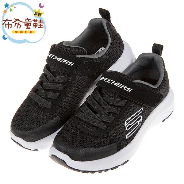 《布布童鞋》SKECHERS_DYNAMIC_TREAD黑色兒童運動鞋(17~24公分) [ N9S151D ]