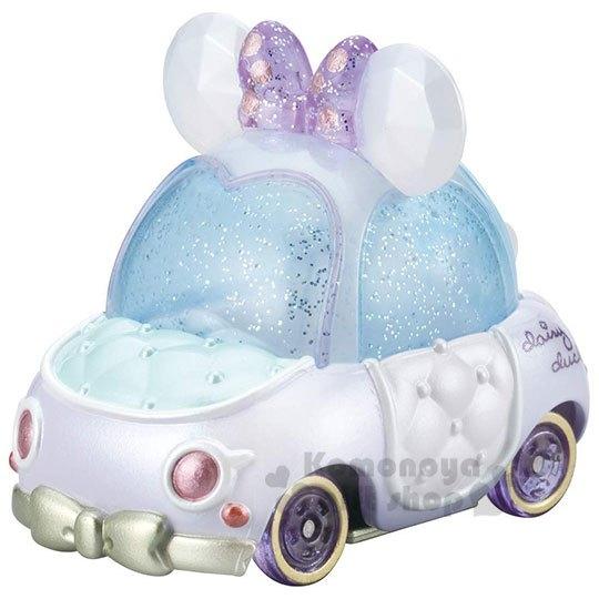 〔小禮堂〕迪士尼 黛西 TOMICA小汽車《紫白.蝴蝶結》公仔.玩具.模型 4904810-11576