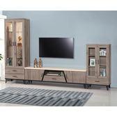 【森可家居】麥町古橡木10尺L櫃組 8SB193-1 展示 電視櫃 高低櫃