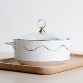 泡麵碗 雙柄陶瓷泡面碗 飯盒保鮮碗面杯廚房大號帶柄有玻璃蓋