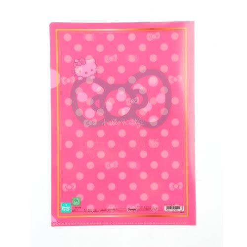 ★funbox生活用品★《Sanrio》HELLO KITTY緞帶文具系列A4資料夾(粉)_UA42416