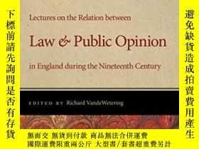 二手書博民逛書店Lectures罕見On The Relation Between Law And Public Opinion