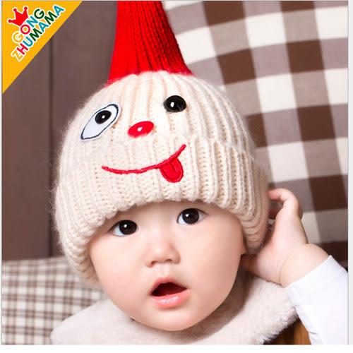 兒童保暖商品童帽 大小寶貝-韓版小淘氣兒童毛線保暖帽