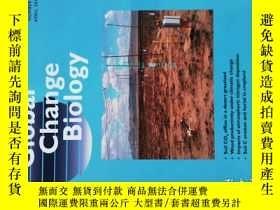 二手書博民逛書店GLOBAL罕見CHANGE BIOLOGY 04 2012 全球變化生物學學術期刊考研資料Y14610