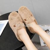 包頭毛毛拖鞋女同款歐洲站年秋冬時尚百搭加絨棉拖鞋快速出貨