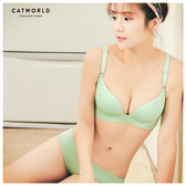 Catworld 糖果甜心。舒適無痕無鋼圈內衣組(淺綠)【18800383】‧70-85AB通杯 / 70C-85C