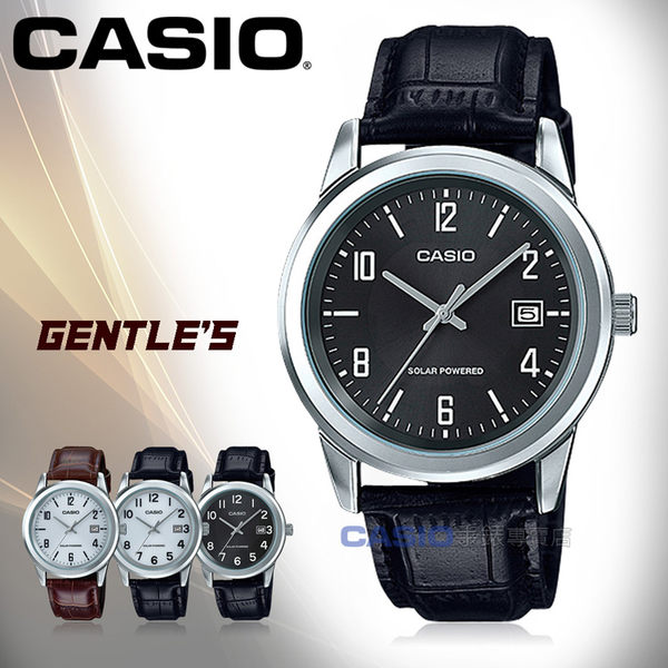 CASIO 卡西歐 手錶專賣店 MTP-VS01L-1B2 男錶 皮革錶帶  太陽能 防水 日期顯示