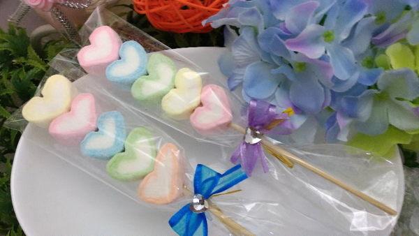 《婚禮小物-彩虹戀戀棉花糖》買百支送花筒*1*另有精緻小卡可加購