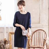 時尚圓領純色造型蝴蝶結袖口五分袖洋裝/春裝款式[88070-S]美之札
