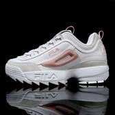FILA DISRUPTOR2 中性復古運動鋸齒鞋-仿麂皮粉 NO.4-C608S-151