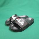 FILA 運動拖鞋 4S313T021 黑色 縫線LOGO 整數尺碼 23~29cm【iSport代購】