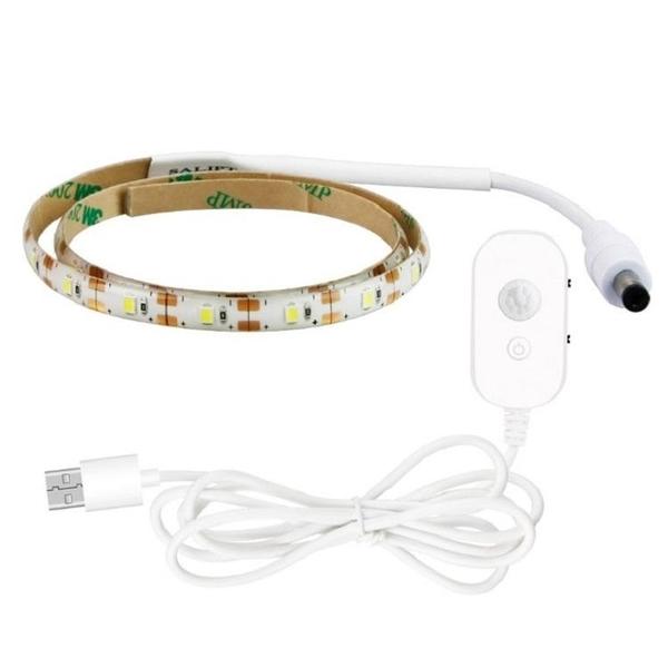 (1米)感應燈條SG666 (USB)智能人體感應LED燈條 LED燈條 櫥櫃燈led燈櫃底燈廚房燈衣櫃燈