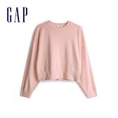 Gap女裝 棉質落肩袖休閒上衣 544873-蜜桃粉