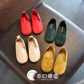 韓版兒童鞋子童小皮鞋女童豆豆鞋軟底公主鞋-奇幻樂園