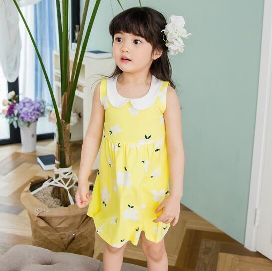 女童連身裙嬰幼兒0棉質洋氣公主裙3歲2女小寶寶夏裝1兒童裝裙子夏雙11特惠促銷