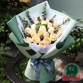 【20張/包】鮮花包裝紙防水雙色歐雅紙花店花束花藝材料包花紙【福喜行】