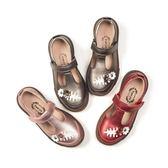 兒童皮鞋女休閒單鞋春秋新款韓版公主鞋軟底時尚女童皮鞋 一米陽光