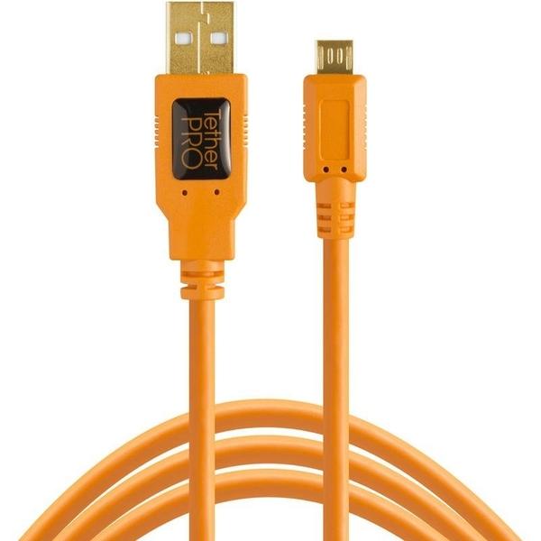 Tether Tools CU5430-ORG USB2.0 傳輸線 A公轉Micro B 5 Pin 4.6M 公司貨