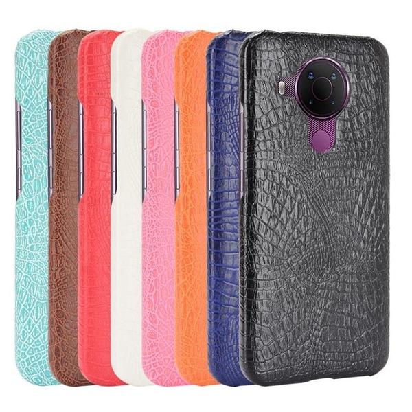 諾基亞5.4手機保護殼鱷魚紋皮質手機套NOKIA 5.4手機套后蓋式外殼