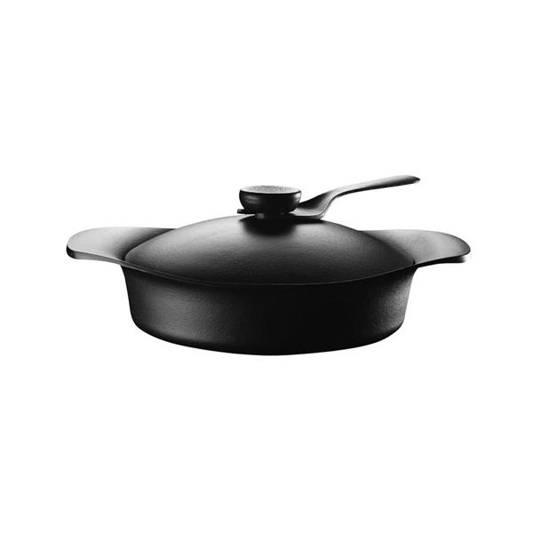 日本 Sori Yanagi Tekki Cast Iron Pot 柳宗理 南部鐵器系列 雙耳淺鍋 / 湯鍋(附黑色鐵蓋、黑色把手)
