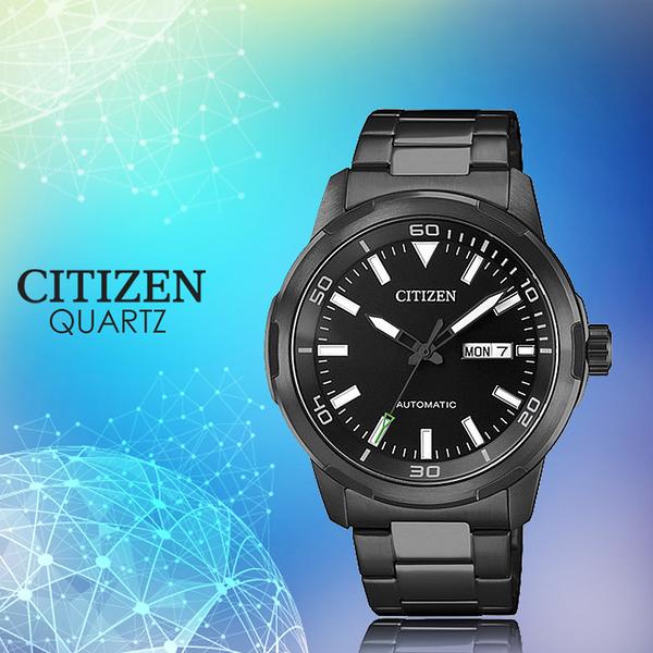 CASIO 手錶專賣店   CITIZEN星辰_NH8375-82E_機械錶_日 期/星期_不鏽鋼_黑色鋰子電鍍_男錶