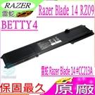 雷蛇 BETTY4 電池(原廠)-Razer Blade 14 #CC213A,RZ09-0102,RZ09-0165,RZ09-0195,RZ09 0165,RZ09 0195,2016 V2