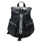 【台中米蘭站】全新品 GIVENCHY SPECTRE 帆布雙口袋後背包(黑)