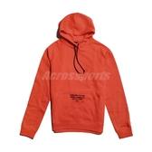 Nike 長袖T恤 Lebron Basketball Hoodie 橘紅 黑 男款 連帽上衣 帽T 籃球 刷毛 【ACS】 AT3916-891
