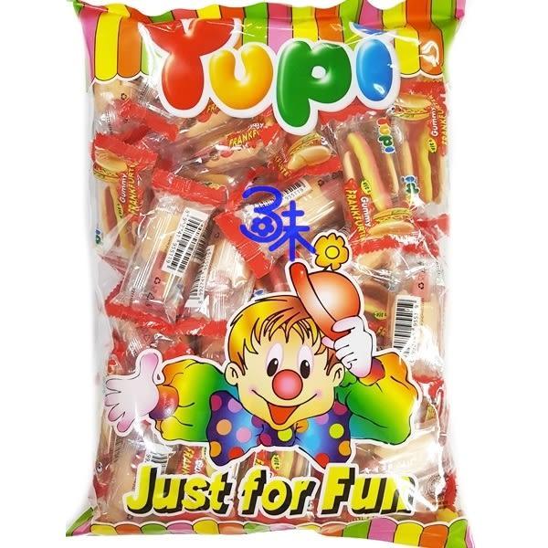 (印尼 ) Yupi 呦皮熱狗軟糖  1包 486 公克 (40個)  (呦皮 大熱狗QQ軟糖 萬聖節 聖誕節必備QQ糖)
