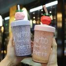 杯子女ins網紅夏日碎冰杯個性吸管杯女學生韓版潮流水杯塑料成人