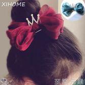 兒童髮夾小熙家韓國進口公主皇冠珠光蝴蝶結發夾頂夾女孩寶寶發卡兒童頭飾 至簡元素