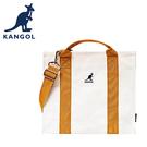 【橘子包包館】KANGOL 英國袋鼠 側背包/手提包 6025301150 橙色 帆布包