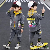兒童裝男童秋裝套裝2020新款牛仔春秋季洋氣男孩韓版帥氣三件套潮 美眉新品