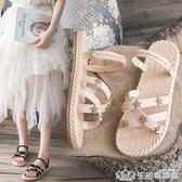 2019新款拖鞋女外穿夏季兩穿平底涼鞋女仙女風ins潮鞋防滑沙灘鞋 生活樂事館