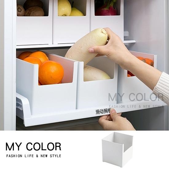 收納箱 收納盒 收納架 整理架 調料架 分類 整理盒 可疊加櫥櫃整理收納盒(02)【N345】color me