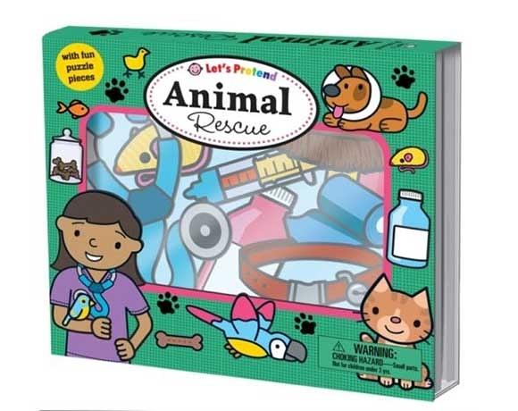 Let's Pretend:Animal Rescue 搶救動物大作戰 硬頁掀翻操作書(英國版)