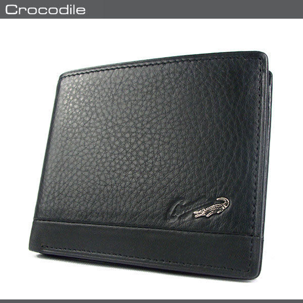 Crocodile  鱷魚 皮夾 / 短夾 0103-33581 黑色 進口真皮軟夾 MyBag得意時袋