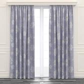 荷蘭絨印花遮光窗簾 寬290x高280cm 紫色