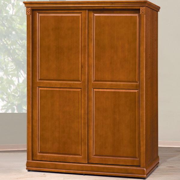 衣櫃 衣櫥 BT-4-5 賽德克5尺實木樟木色拉門衣櫥【大眾家居舘】