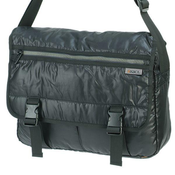 ACE EXACT 防水泡棉系列雙扣上蓋側背包(黑色) AEX50004BK
