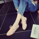雨鞋 果凍鞋防水鞋塑膠鞋孕婦鞋平底包頭防水洞洞鞋 631-352巴黎春天