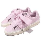 Puma Basket Heart Scallop Wns 粉紅 白 皮革鞋面 鋸齒 緞帶鞋 基本款 女鞋【PUMP306】 36697902