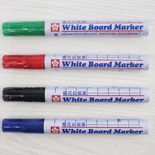 櫻花牌 白板筆 XLWBK/一支入(定45) 白板筆 有 黑 紅 藍 綠 日本製