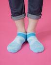 【 Footer 除臭襪】繽紛花紗輕壓力足弓船短襪 淺藍 24-27CM 男 (任選6雙960元)