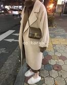 現貨 燕麥色 雙面羊毛呢 寬鬆大衣 CC KOREA ~ Q20221