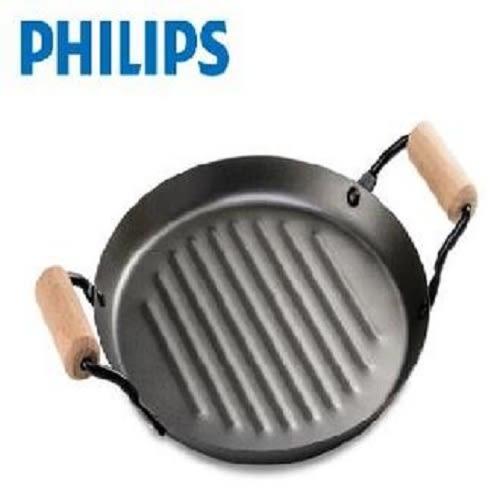 『PHILIPS』☆ 飛利浦 圓型碳鋼不沾燒烤盤 CL12292 **免運費**